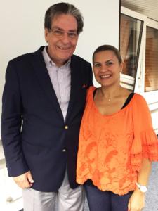 Drita Friedli mit Network-Profi Michael Strachowitz